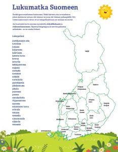 kuva bingopohjasta, jossa on Suomen kartta