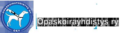Opaskoirayhdistyksen logo.