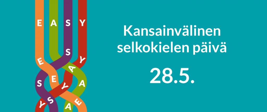 Selkokielen päivän logo.