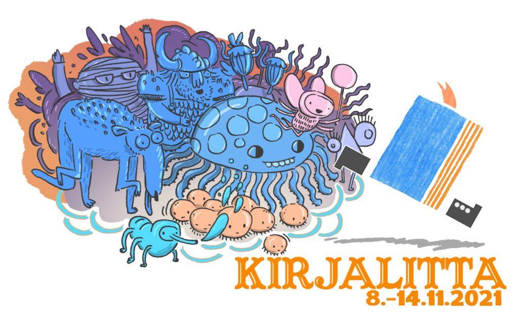 Kirjalitta-festivaalin banneri.